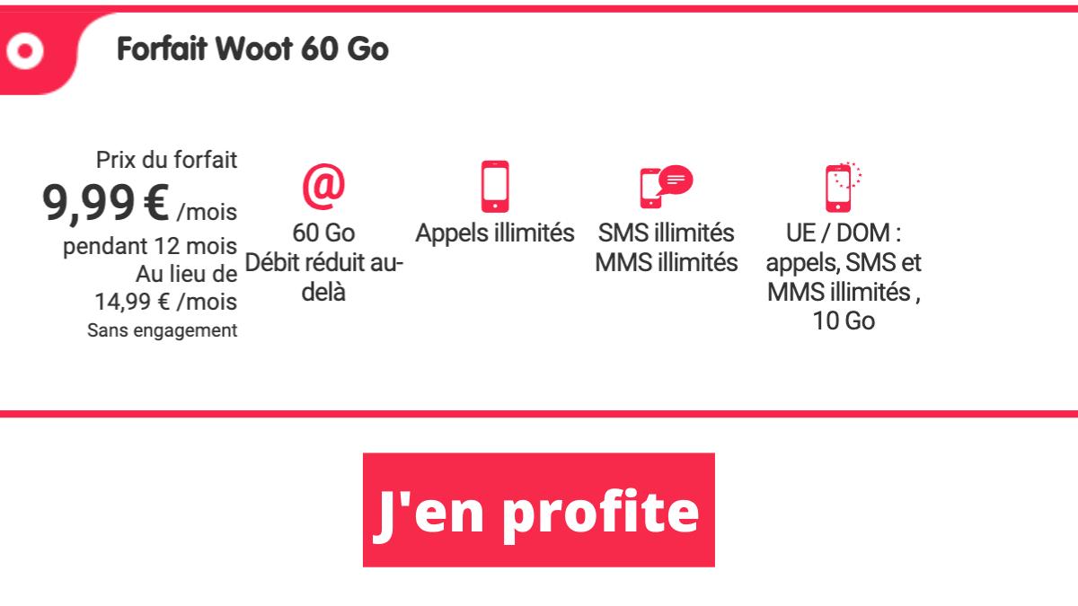 nrj promo forfait 60 Go