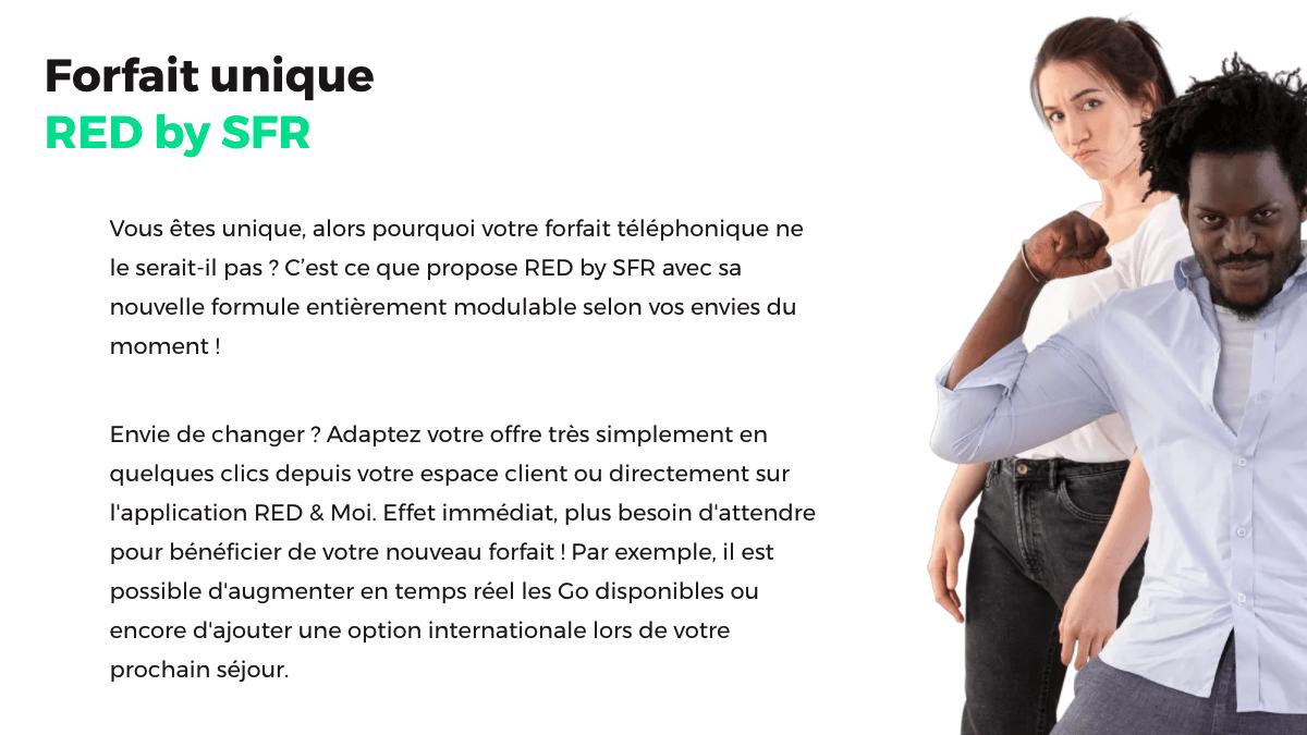 Nouveaux bon plan avec les forfait RED by SFR