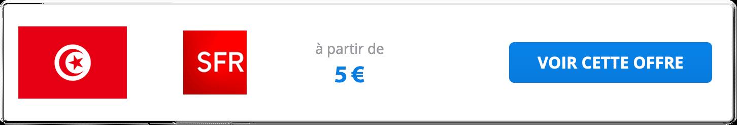 Les pass Tunisie de SFR