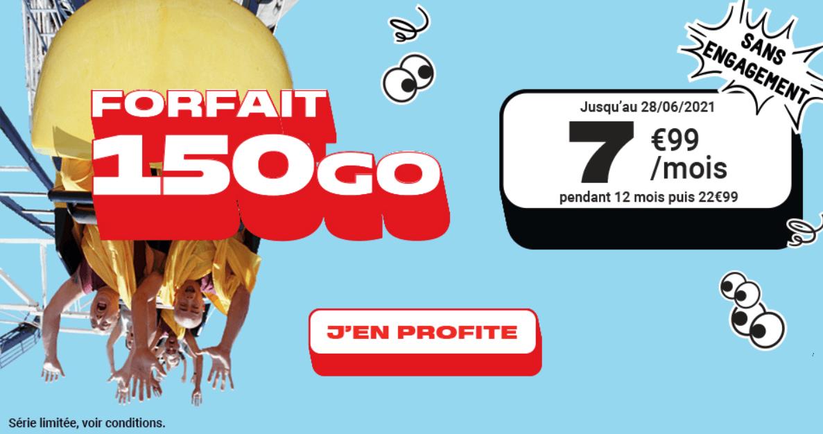 150 Go à 7,99€ par mois