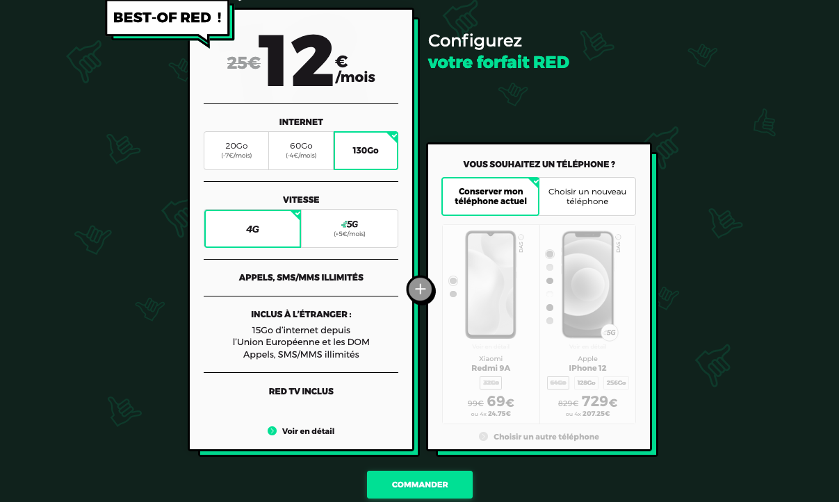 promo red by sfr 130 Go