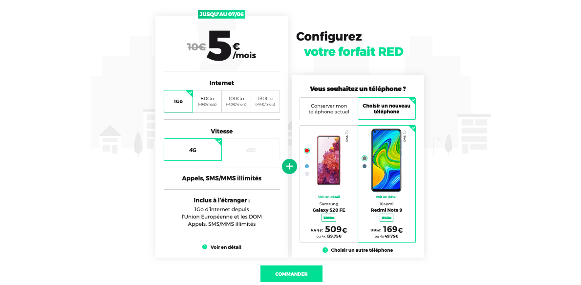 red by sfr forfait mobile pas cher