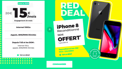 Promo iPhone offert chez RED by SFR