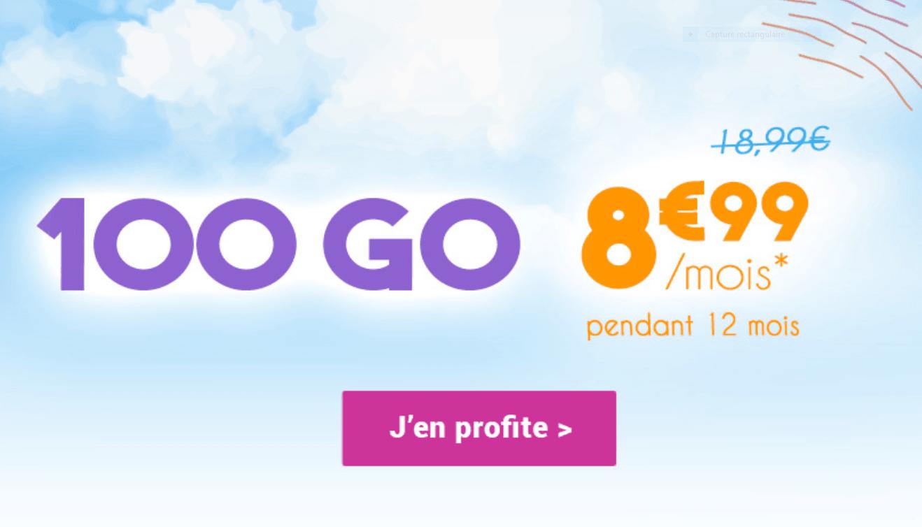 Le forfait 100 Go à 8,99€/mois de Coriolis