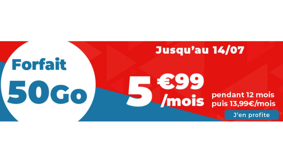 Auchan forfait 4G 50 Go