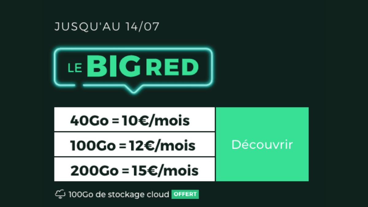 BIG RED forfait 4G promo