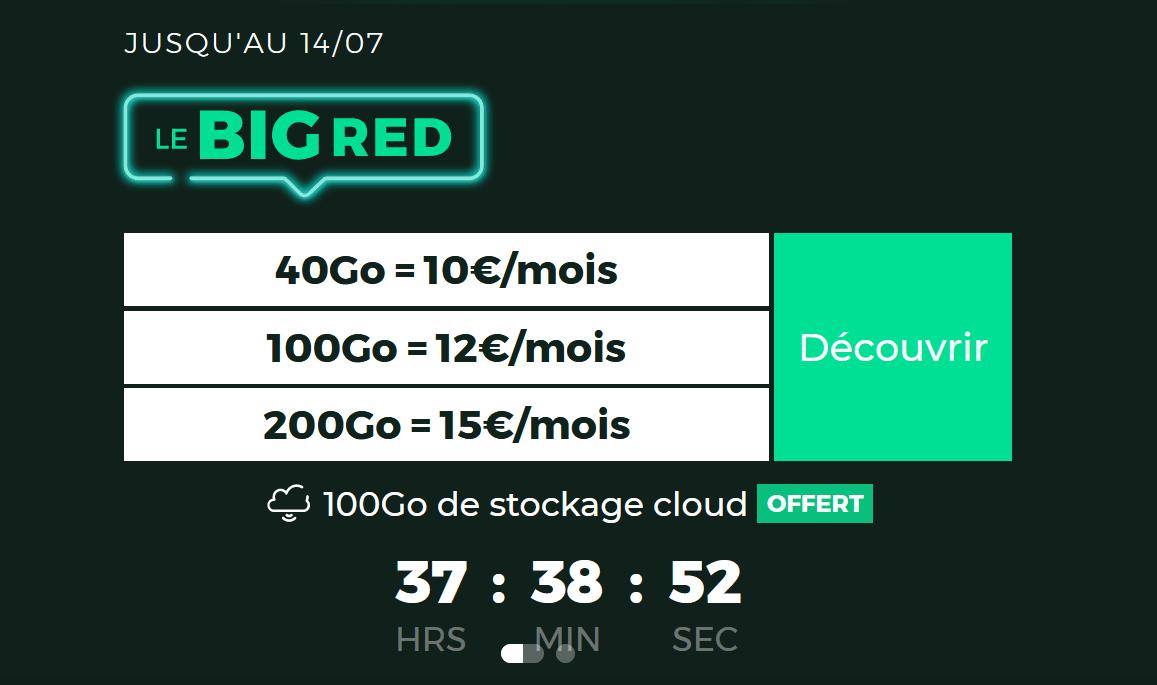L'offre BIG RED
