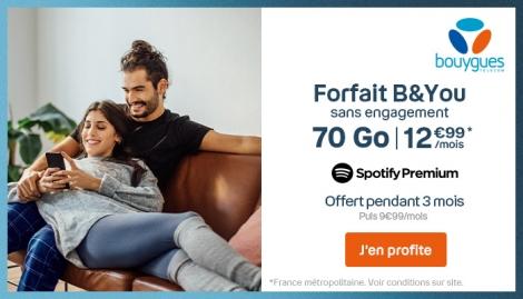 Forfait 70 Go B&YOU