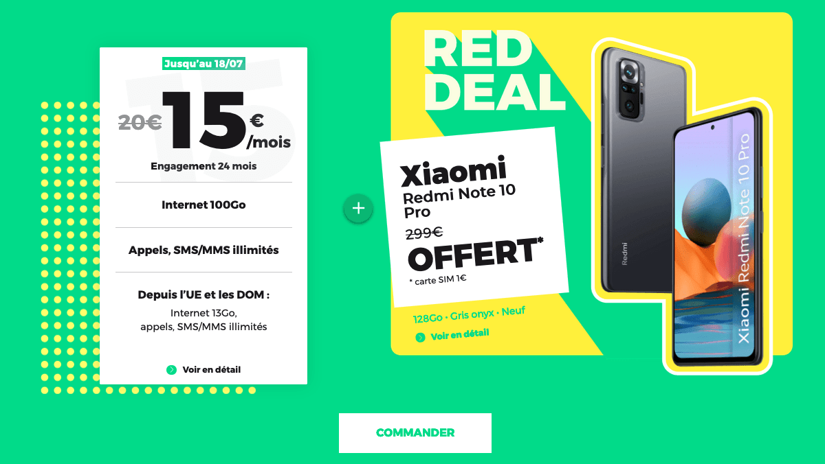RED Deal forfait 100 Go