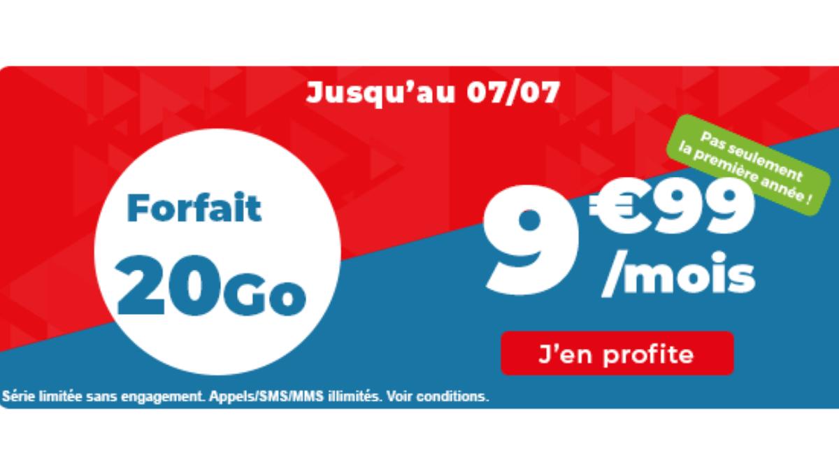 auchan forfait pas cher 20 go
