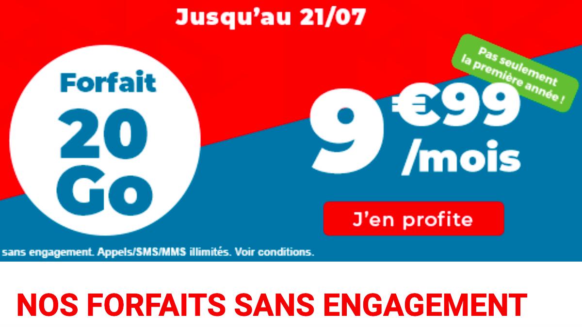 Auchan telecom et son offre 20 Go
