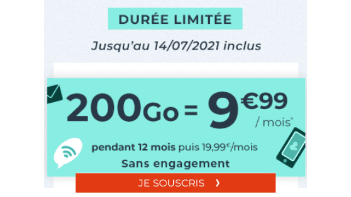 cdiscount mobile 200 Go