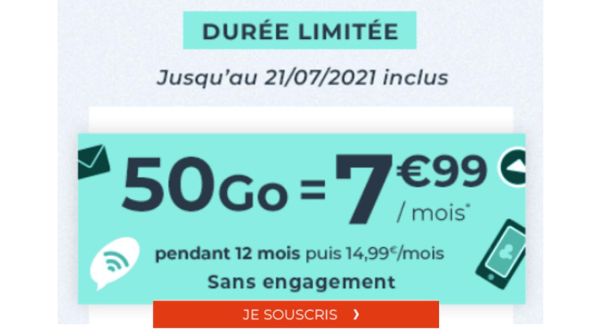 forfait mobile cdiscount 50 Go