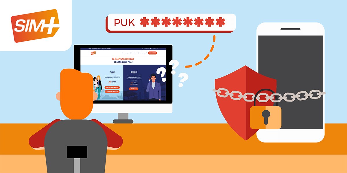 SIM+ code PUK en ligne