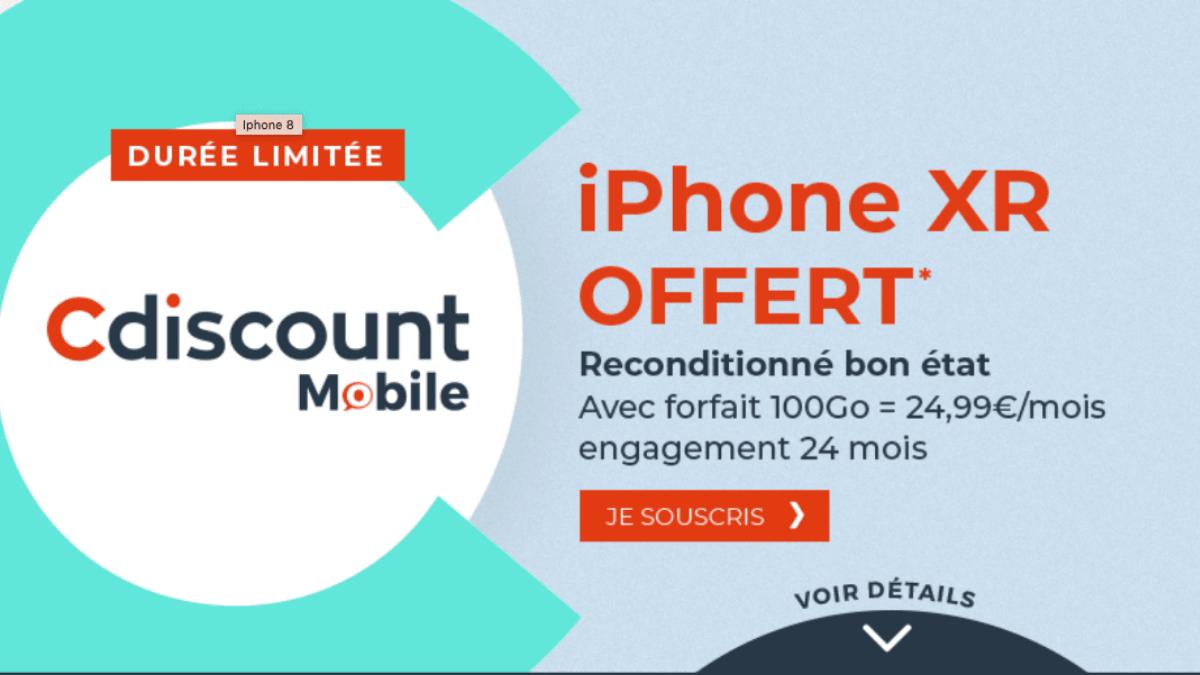 Forfait 100 go plus iPhone XR
