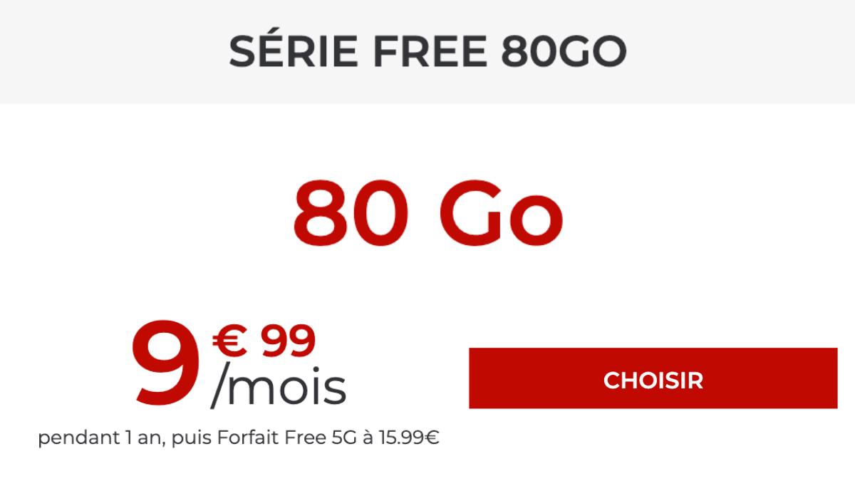 Forfait 4G 80 Go 2