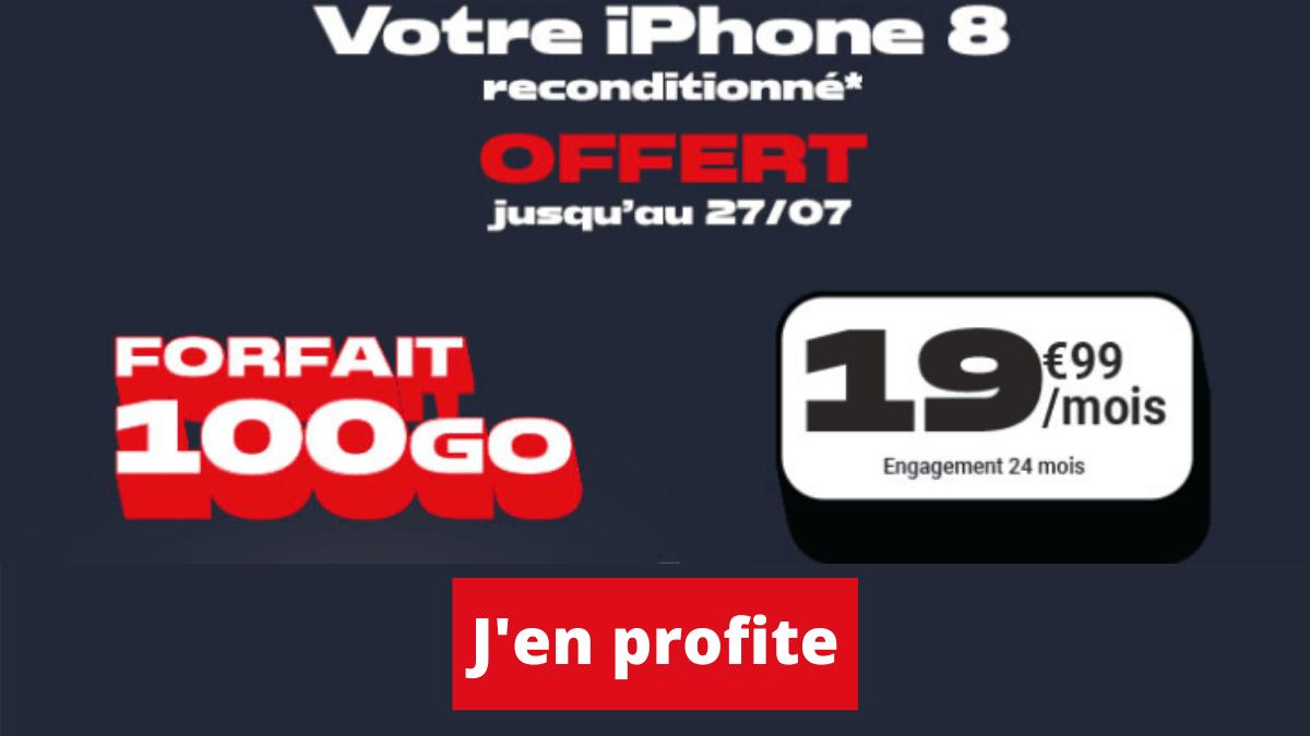 Forfait 4G iPhone 8 dernières heures
