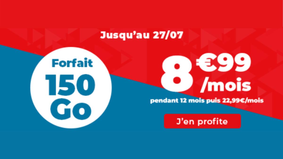 Forfait 4G Auchan 150 Go