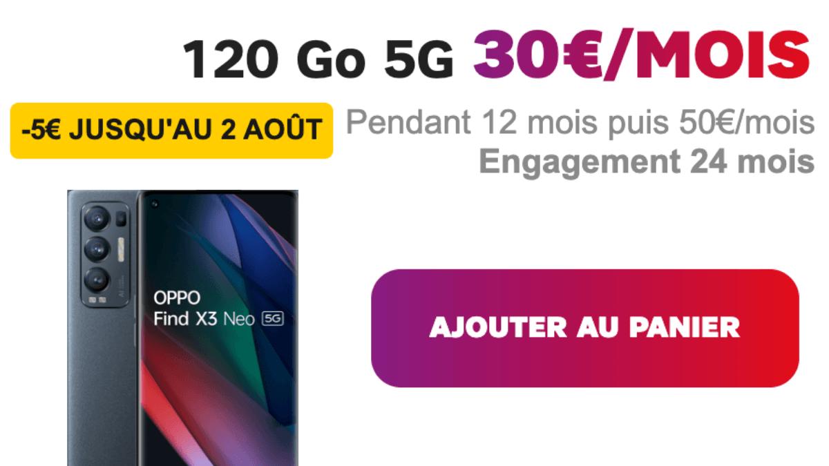 Forfait avec smartphone OPPO 120 Go