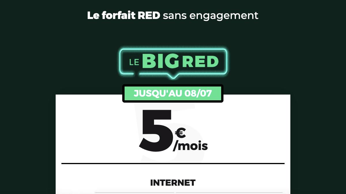 Le forfait BIG RED pour 5 euros