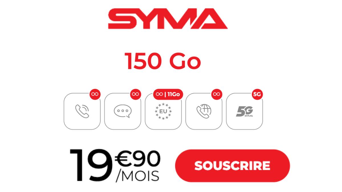 Forfait data Syma 150