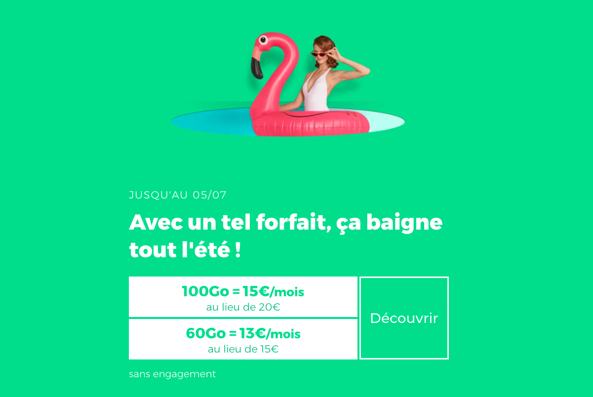 les forfaits RED by SFR en promotion