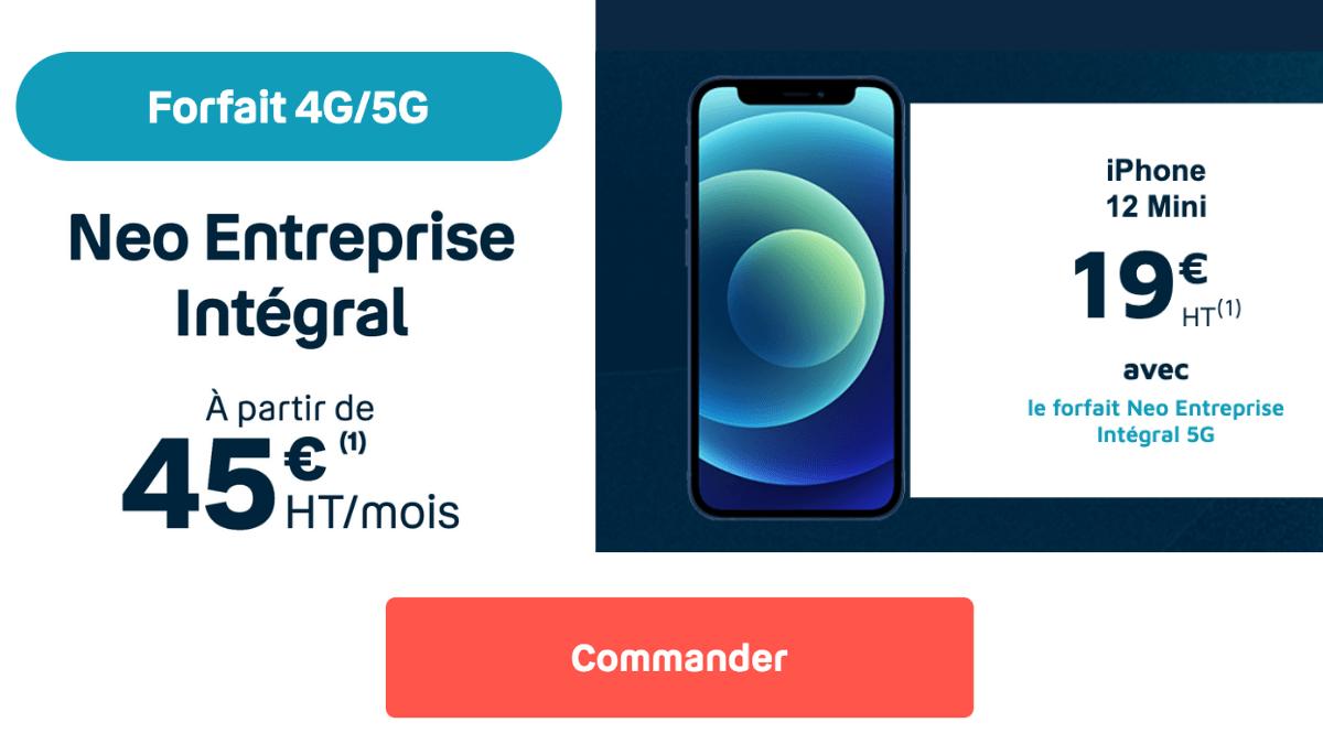 Forfait entreprise plus iPhone 12 mini