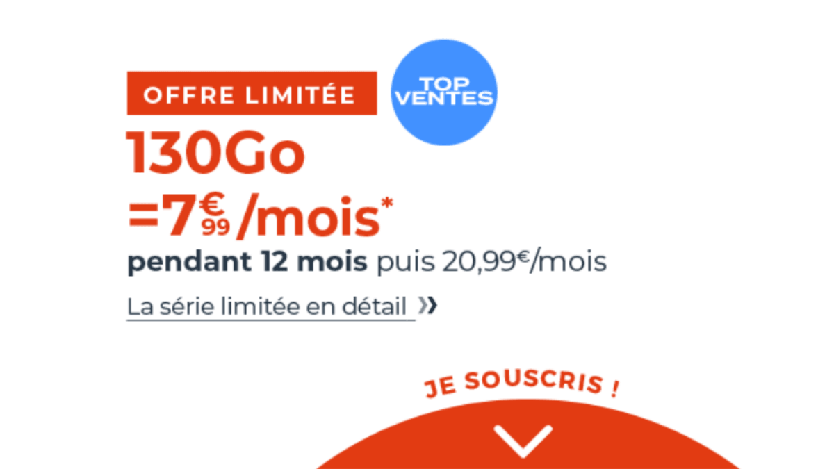 Forfait mobile Cdiscount 130