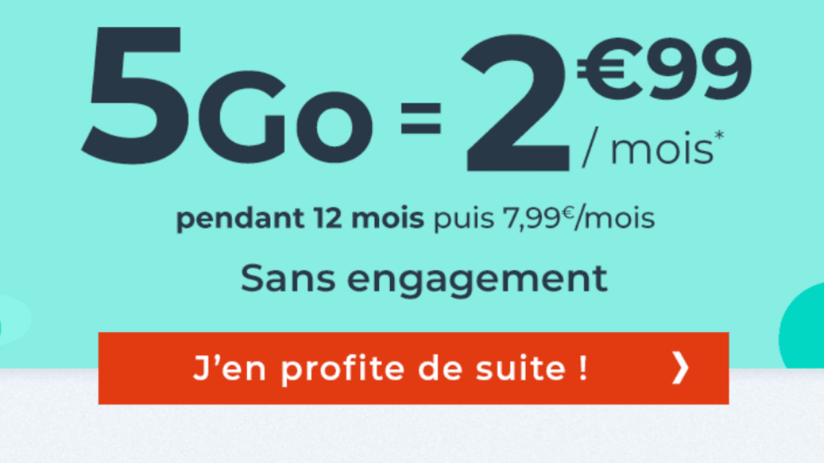 Forfait mobile Cdiscount 5