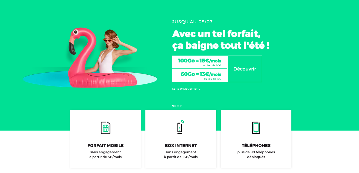 forfait mobile promo 60 Go 4G RED by SFR
