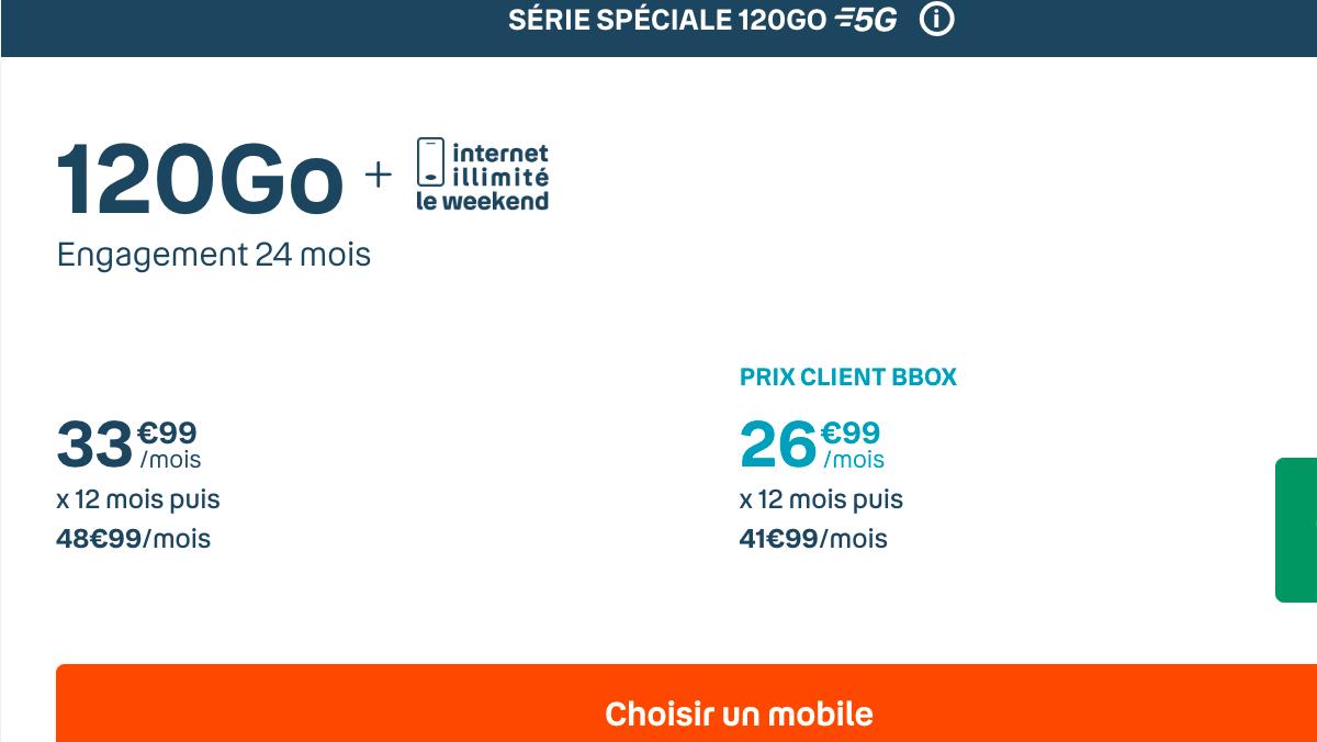 Forfait Sensation 120 Go de Bouygues
