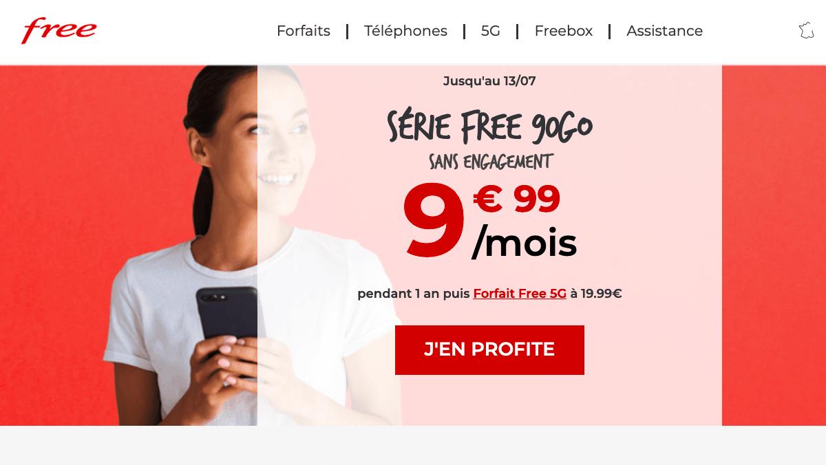Prolongation de l'offre Free 90 Go
