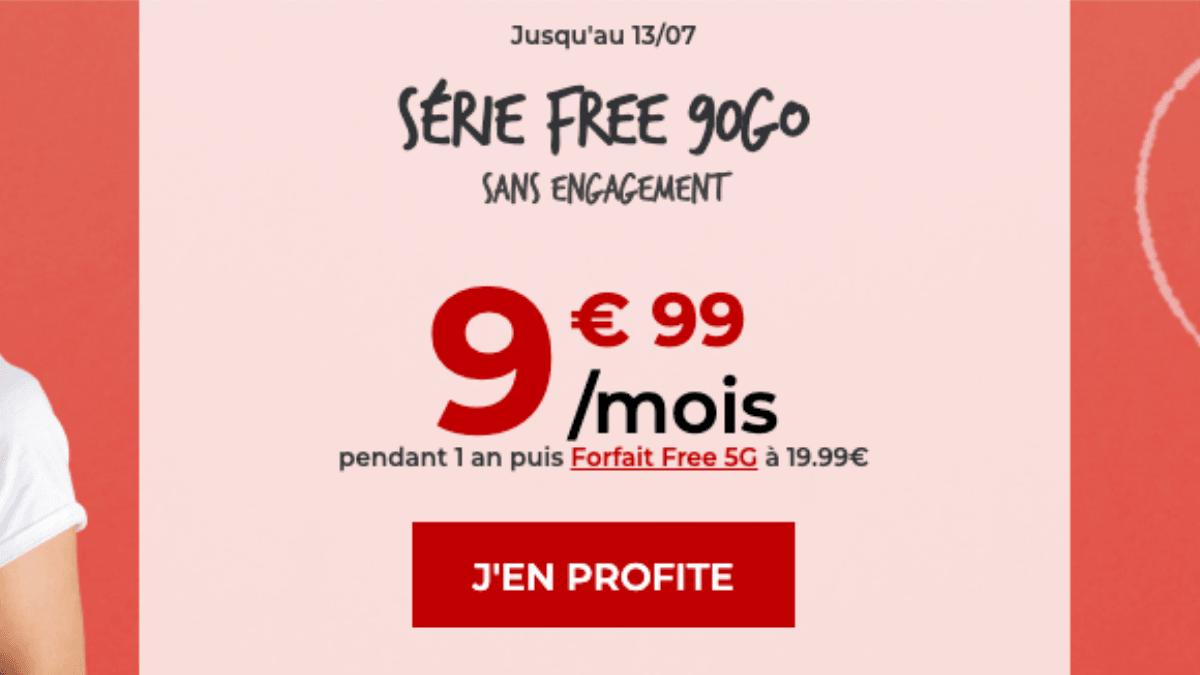 free mobile 90Go promo