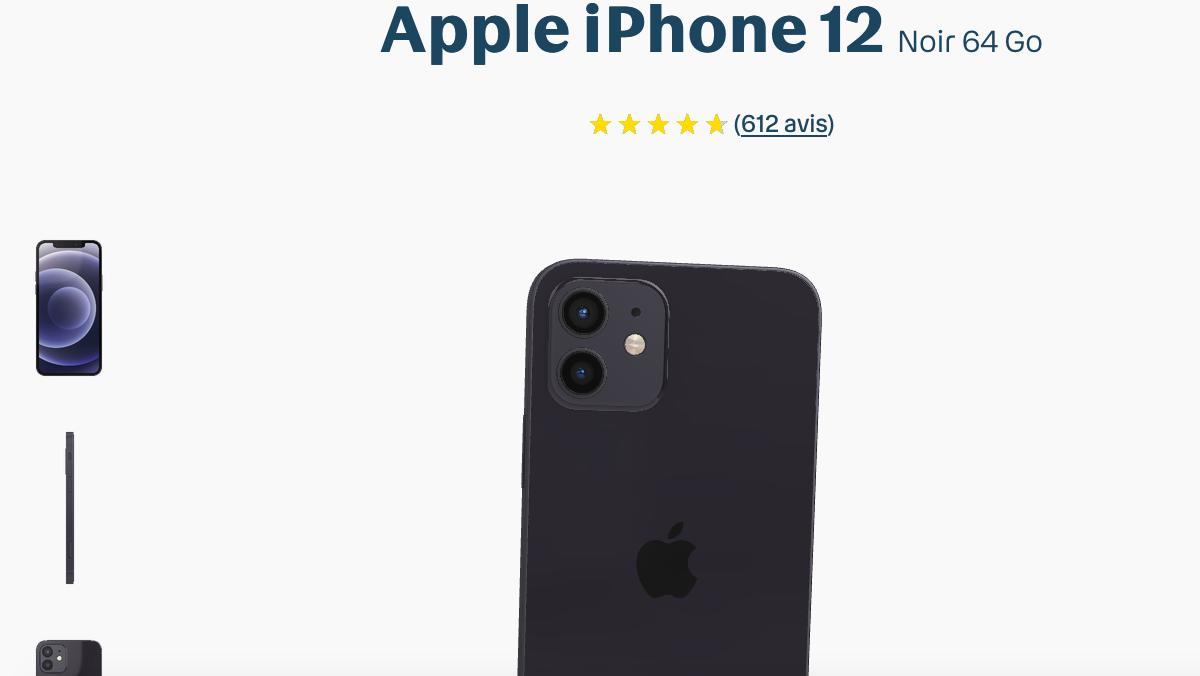 L'iPhone 12 est disponible chez Bouygues