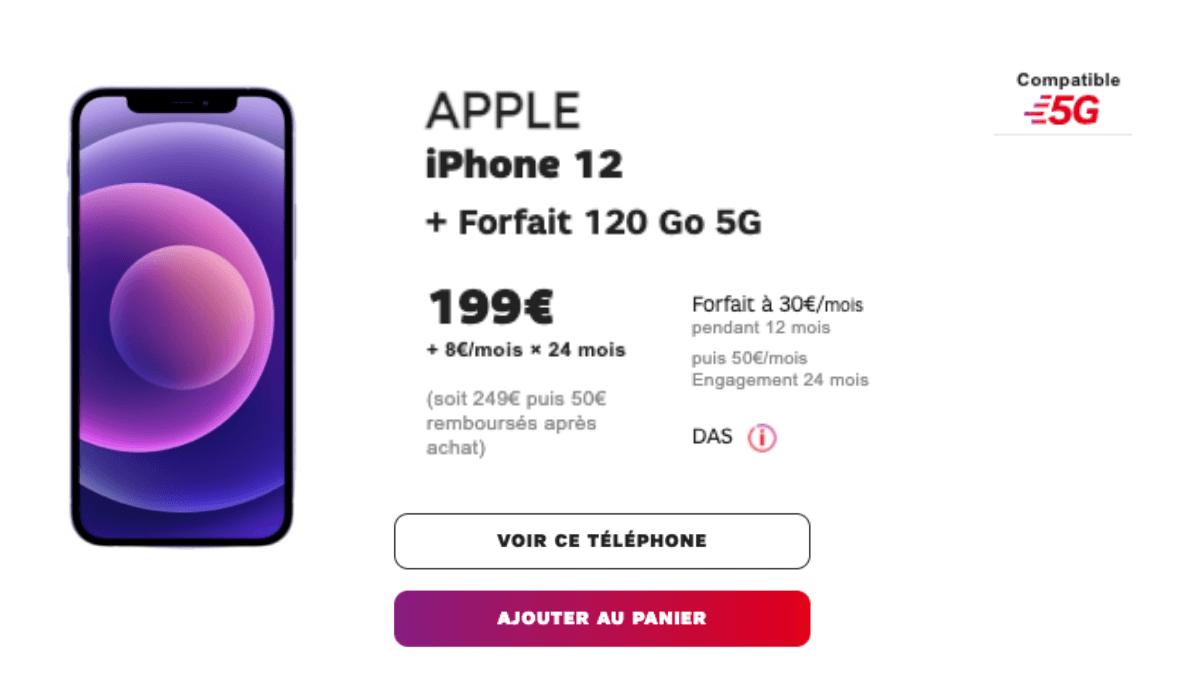 Forfait 5G SFR iPhone 12