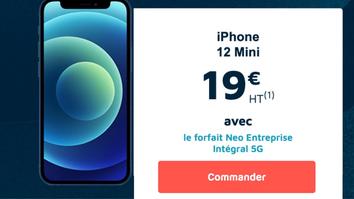 iPhone 12 mini plus forfait entreprise