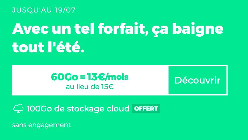 Le forfait sans engagement de RED by SFR