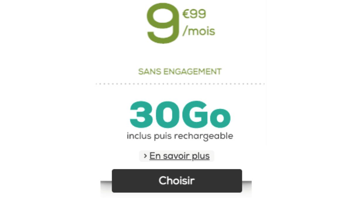 la poste mobile 90 Go promo