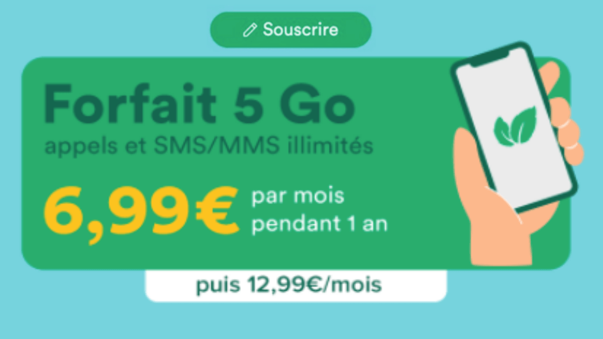 forfait pas cher 5 Go Mint Mobile