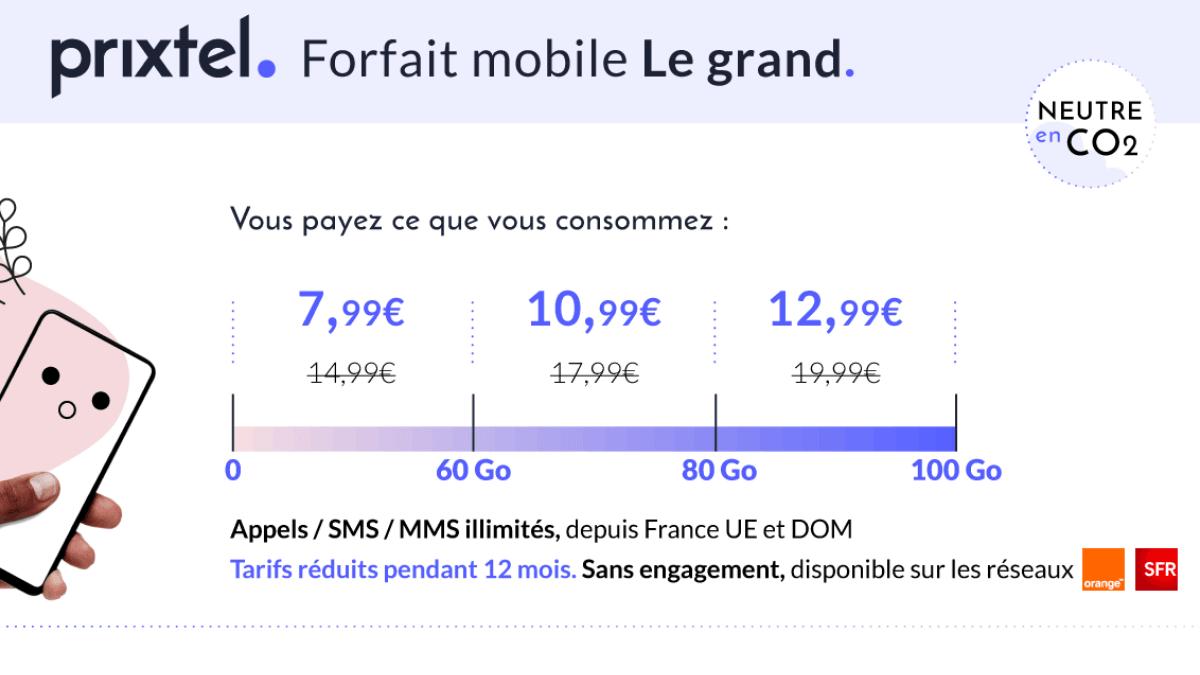Prixtel grand forfait mobile un