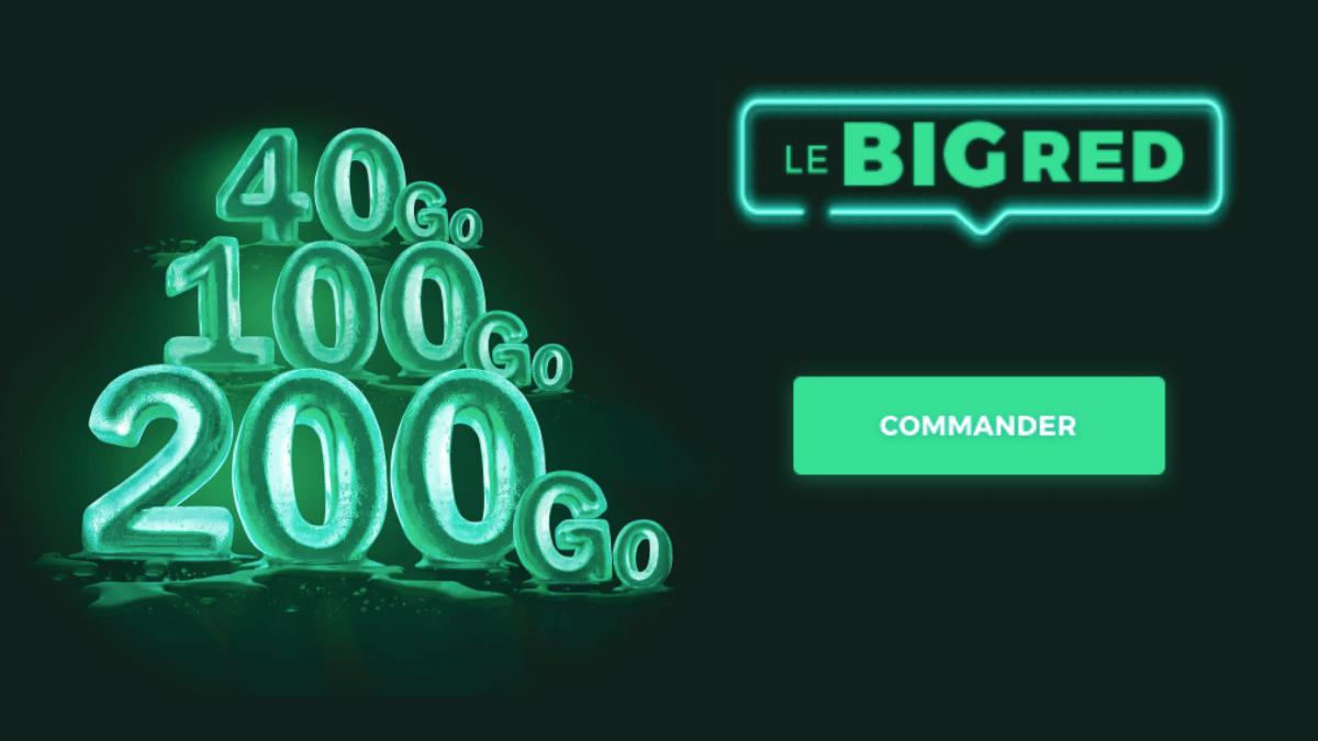 promo big RED SFR 100 Go forfait 4G