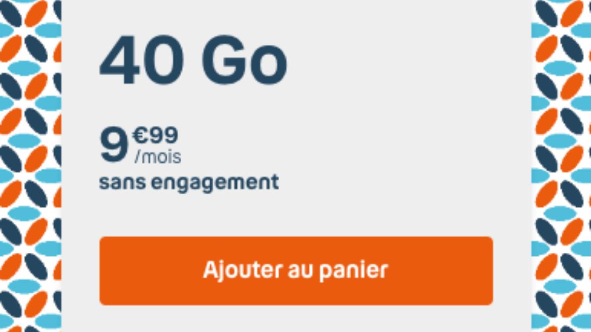 promo b&you forfait pas cher 40 Go