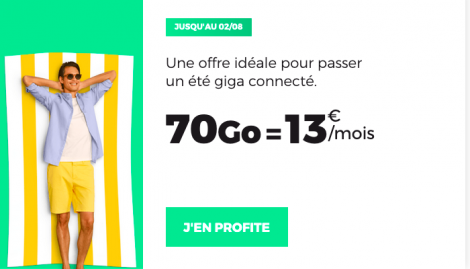 Forfait RED by SFR 70 Go en promo