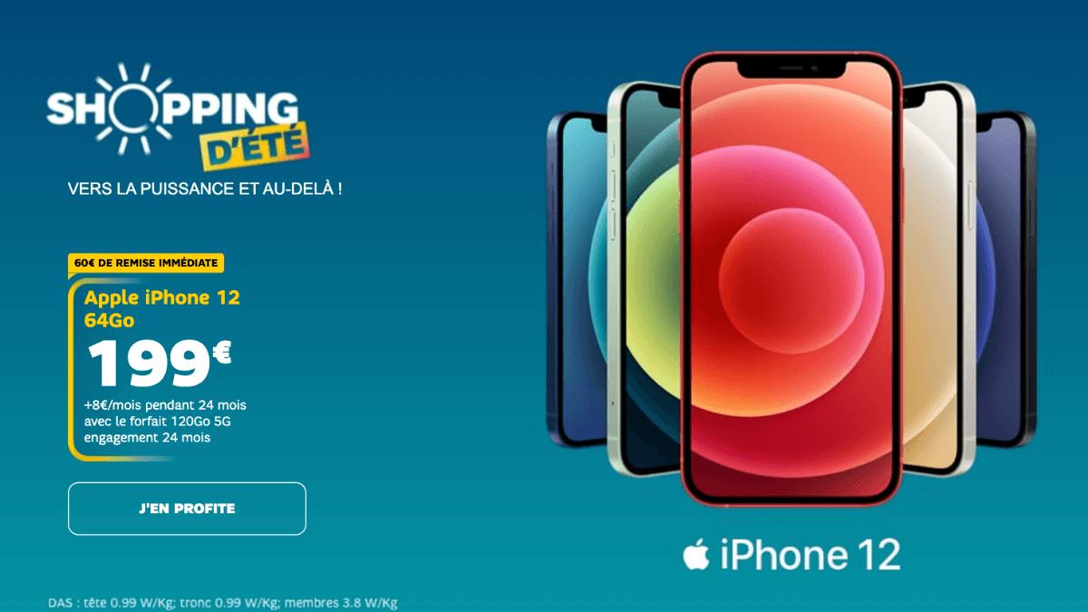 SFR iPhone 12 avec forfait 5G