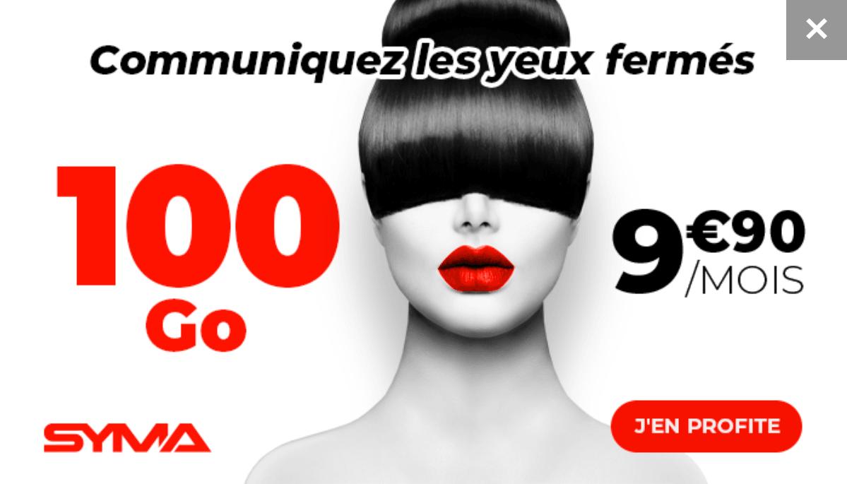 Le forfait 4G 100 Go de Syma Mobile