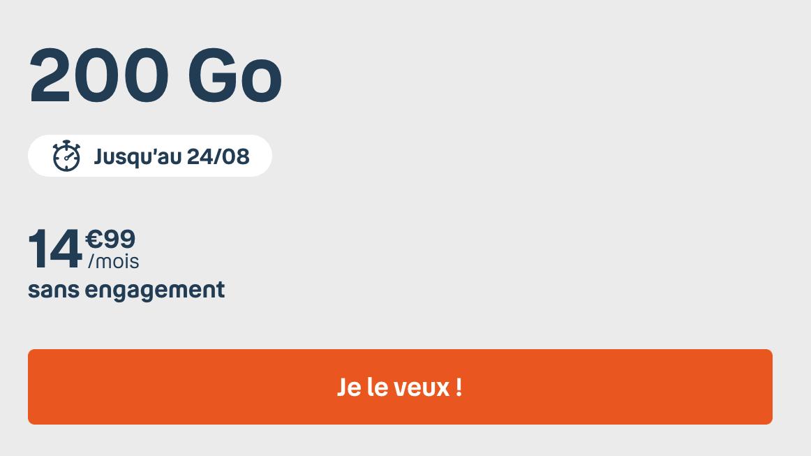 Le forfait 200 Go de B&YOU
