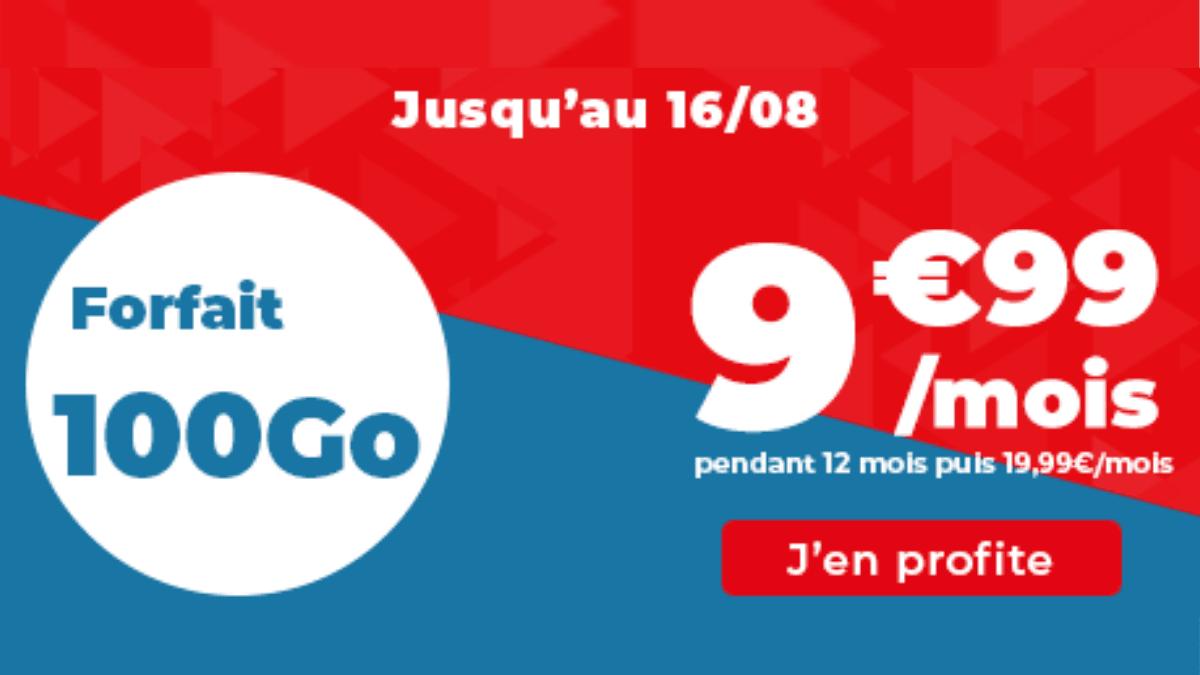 Forfait 4G 100 Go Auchan Telecom