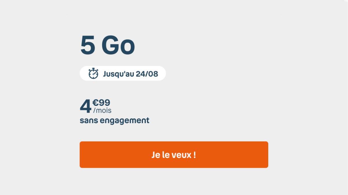 Le forfait 5 Go B&You