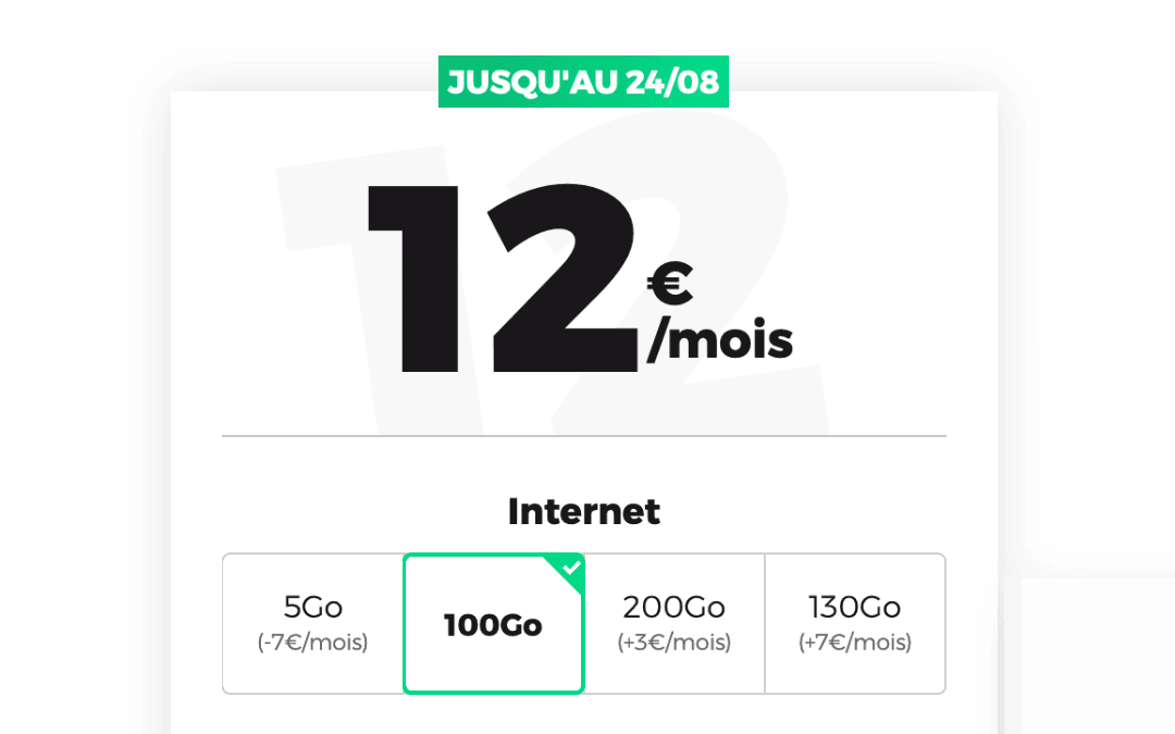 Le forfait 100 Go RED by SFR