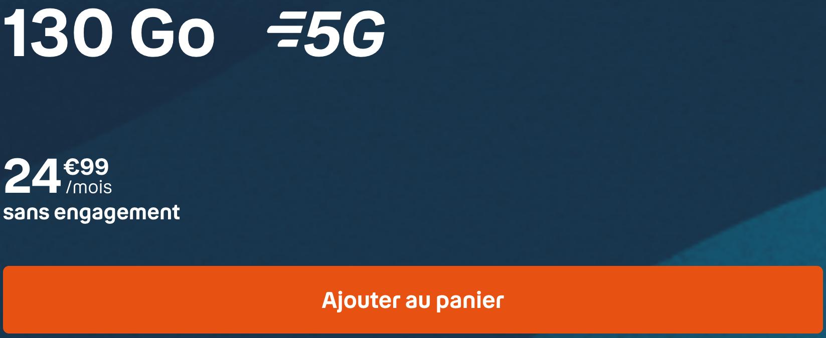Forfait 5G sans engagement BYOU